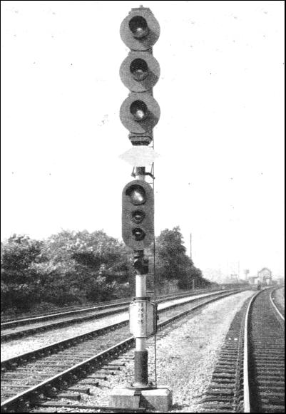 London Midland and Scottish railway searchlight signal